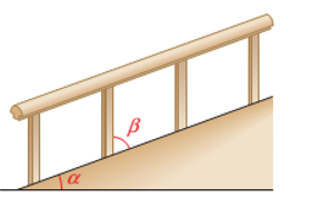 Chapter 1.1, Problem 24PS, Figure 20 shows a walkway with a handrail. Angle  is the angle between the walkway and the