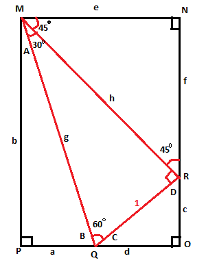 Chapter 2, Problem 5GP, Now that the diagram is complete, you should have a 15 –75 –90 triangle with all three sides