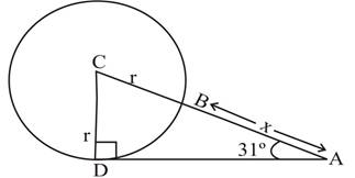 Chapter 2.3, Problem 41PS, The circle in Figure 7 has a radius of r and center at C The distance from A to B is x. For Problems