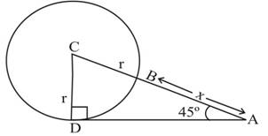 Chapter 2.3, Problem 44PS, The circle in Figure 7 has a radius of r and center at C The distance from A to B is x. For Problems