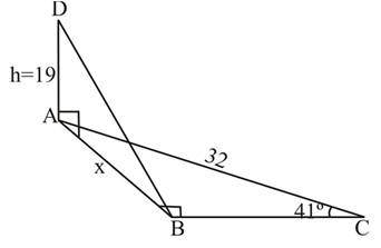 Chapter 2.3, Problem 47PS, Figure 8 shows two right triangles drawn at 900 to each other. For Problems 45 through 48, redraw
