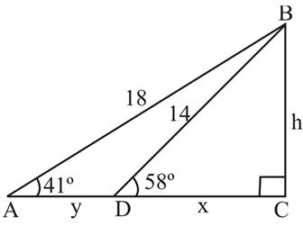 Chapter 2.3, Problem 49PS, In Figure 9, the distance from A to D is y, the distance from D to C is x. and the distance from C