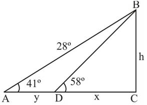 Chapter 2.3, Problem 51PS, In Figure 9, the distance from A to D is y, the distance from D to C is x. and the distance from C