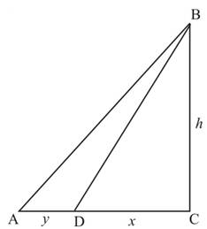 Chapter 2.3, Problem 53PS, In Figure 9, the distance from A to D is y, the distance from D to C is x. and the distance from C