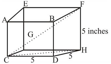 Chapter 2.3, Problem 55PS, Suppose each edge of the cube shown in Figure 10 is 5.00 inches long. Find the measure of the angle