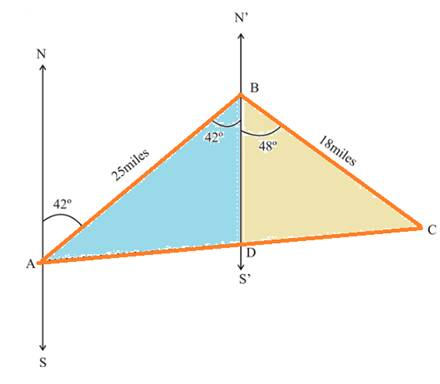 Chapter 2.4, Problem 29PS, Distance and Bearing Problems 27 through 32 involve directions in the form of bearing, which we
