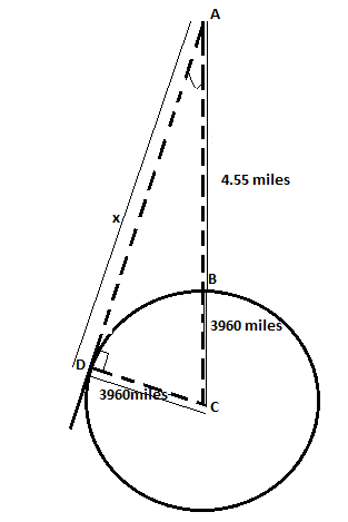 Chapter 2.4, Problem 42PS, Distance Suppose Figure 22 is an exaggerated diagram of a plane flying above earth. If the plane is