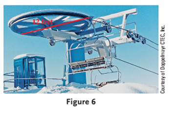 Chapter 3.5, Problem 51PS, Ski Lift A ski lift operates by driving a wire rope, from which chairs are suspended, around a