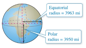 Chapter 7.2, Problem 49E, Physical Science Because of the forces caused by its rotation, Earth is an oblate ellipsoid rather