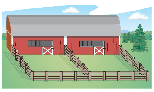 Chapter 7.6, Problem 39E, Construction An animal shelter plans to use the side of a barn as a boundary for two adjacent