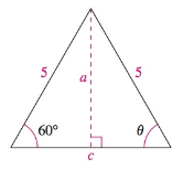 Chapter 8, Problem 19RE, Analyzing Triangles In Exercises 1720, solve the triangle for the indicated side and/or angle.