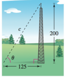 Chapter 8.1, Problem 46E, Length A guy wire is stretched from a broadcasting tower at a point 200 feet above the ground to an