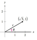 Chapter 8.2, Problem 1CP, Let (3,1) be a point on the terminal side of , as shown in the figure. Find the sine, cosine, and