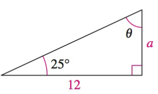 Chapter 8.3, Problem 20QY, In Exercises 1820, solve the triangle for the indicated side and angle.