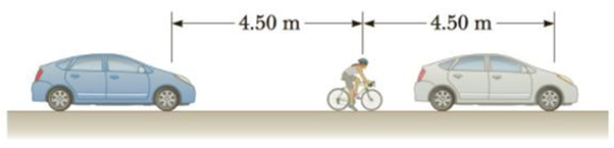 Chapter 14, Problem 37P, Two cars are stuck in a traffic jam and each sounds its horn at a frequency of 625 Hz. A bicyclist