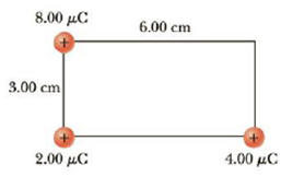 Chapter 16, Problem 13P, (a) Find the electric potential, taking zero at infinity, at the upper right corner (the corner