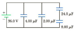 Chapter 16, Problem 42P, Consider the combination of capacitors in Figure P16.42. (a) Find the equivalent single capacitance