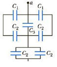 Chapter 16, Problem 46P, (a) Find the equivalent capacitance between points a and b for the group of capacitors connected as
