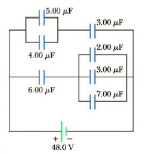 Chapter 16, Problem 65AP, Find the equivalent capacitance of the group of capacitors shown in Figure P16.65. Figure P16.65
