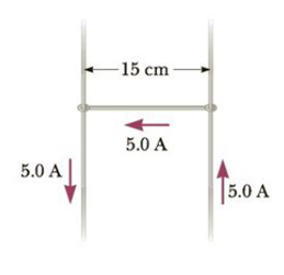Chapter 19, Problem 31P, Consider the system pictured in Figure P19.31. A 15-cm length of conductor of mass 15 g, free to
