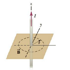 Chapter 19, Problem 44P, A long, straight wire going through the origin is carrying a current of 3.00 A in the positive