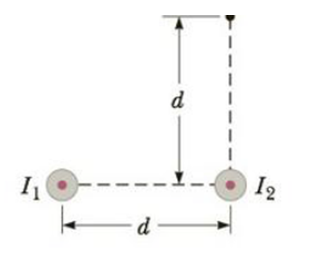 Chapter 19, Problem 51P, Two long, parallel wires carry currents of I1 = 3.00 A and I2 = 5.00 A in the direction indicated in