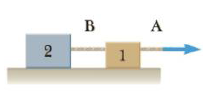 Chapter 4, Problem 63P, In Figure P4.63, the light, taut, unstretchable cord B joins block 1 and the larger-mass block 2.