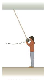 Chapter 5, Problem 6CQ, A bowling ball is suspended from the ceiling of a lecture hall by a strong cord. The ball is drawn