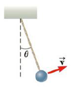 Chapter 7, Problem 19P, One end of a cord is fixed and a small 0.500-kg object is attached to the other end, where it swings