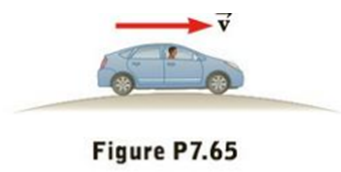 Chapter 7, Problem 65AP, Suppose a 1 800-kg car passes over a bump in a roadway that follows the arc of a circle of radius