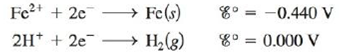 Chapter 18, Problem 145CP, A galvanic cell is based on the following half-reactions: where the iron compartment contains an