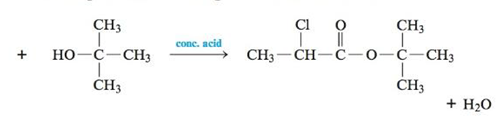 Chapter 22, Problem 143CWP, Esterification reactions are carried out in the presence of a strong acid such as H2SO4. A
