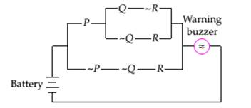 Chapter 3.2, Problem 7EE, Warning Circuits a. The following circuit shows a switching network used in an automobile. The , example  2