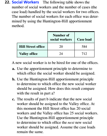 Chapter 4.1, Problem 22ES, Social Workers The following table shows the number of social Workers and the number of cases (the