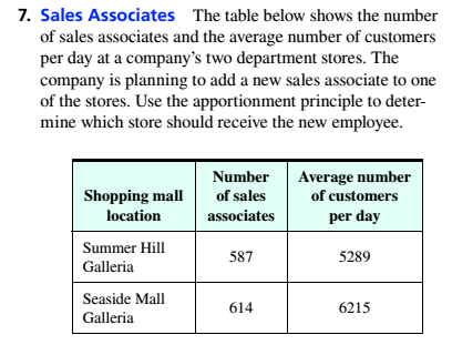 Chapter 4.1, Problem 7ES, Sales Associates The table below shows the number of sales associates and the average number of