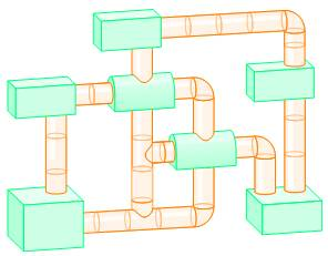 Chapter 5.1, Problem 27ES, Pets The diagram below shows the arrangement of a Habitrail cage for a pet hamster. (Plastic tubes