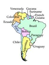 Chapter 5.1, Problem 34ES, Travel A map of South America is shown at the left. Draw a graph in which the vertices represent the