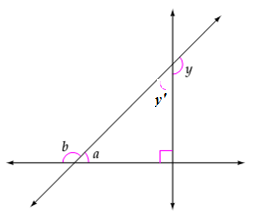 Chapter 7.2, Problem 46ES, Given that my=130, find the measures of angles a and b.