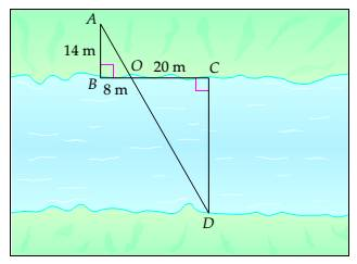 Chapter 7.4, Problem 27ES, Surveying Surveyors use similar triangles to measure distances that cannot be measured directly.