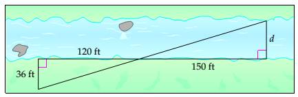 Chapter 7.4, Problem 28ES, Surveying Surveyors use similar triangles to measure distances that cannot be measured directly.