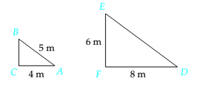 Chapter 7.4, Problem 9ES, Triangles ABC and DEF are similar triangles. Use this fact to solve each exercise. Round to the