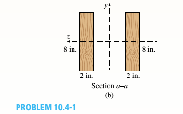 Chapter 10, Problem 10.4.1P, A two-span, continuous wood girder (E = 1700 ksi) supports a roof patio structure (figure part a). A , example  2