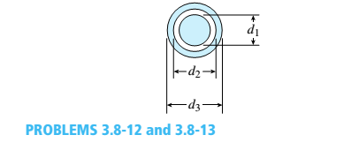 Chapter 3, Problem 3.8.12P, A solid steel bar of diameter d1= 25.0 mm is enclosed by a steel tube of outer diameter d3= 37.5 mm , example  2