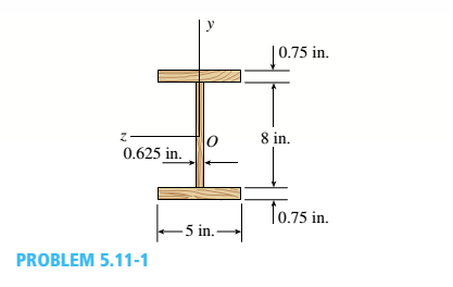 Chapter 5, Problem 5.11.1P, A prefabricated wood I-beam serving as a floor joist has the cross section shown in the figure. The