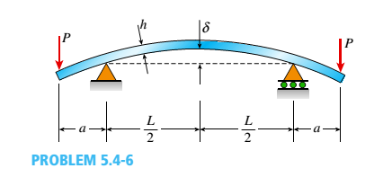 Chapter 5, Problem 5.4.6P, A bar of rectangular cross section is loaded and supported as shown in the figure. The distance
