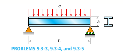 Chapter 9, Problem 9.3.3P, A wide-flange beam (W 12 x 35) supports a uniform load on a simple span of length L = 14 ft (see