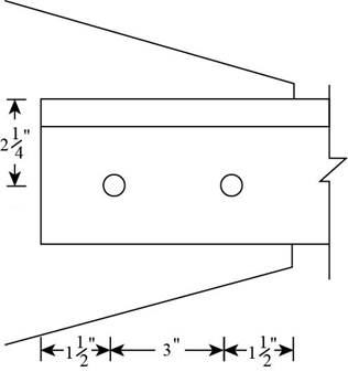 Chapter 3, Problem 3.5.1P, Compute the nominal block shear strength of the tension member shown in Figure P3.5-1. ASTM A572