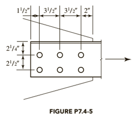 Chapter 7, Problem 7.4.5P, The tension member is an L631 2 5 16 . It is connected to a 5 16 -inch-thick gusset plate with 3 4