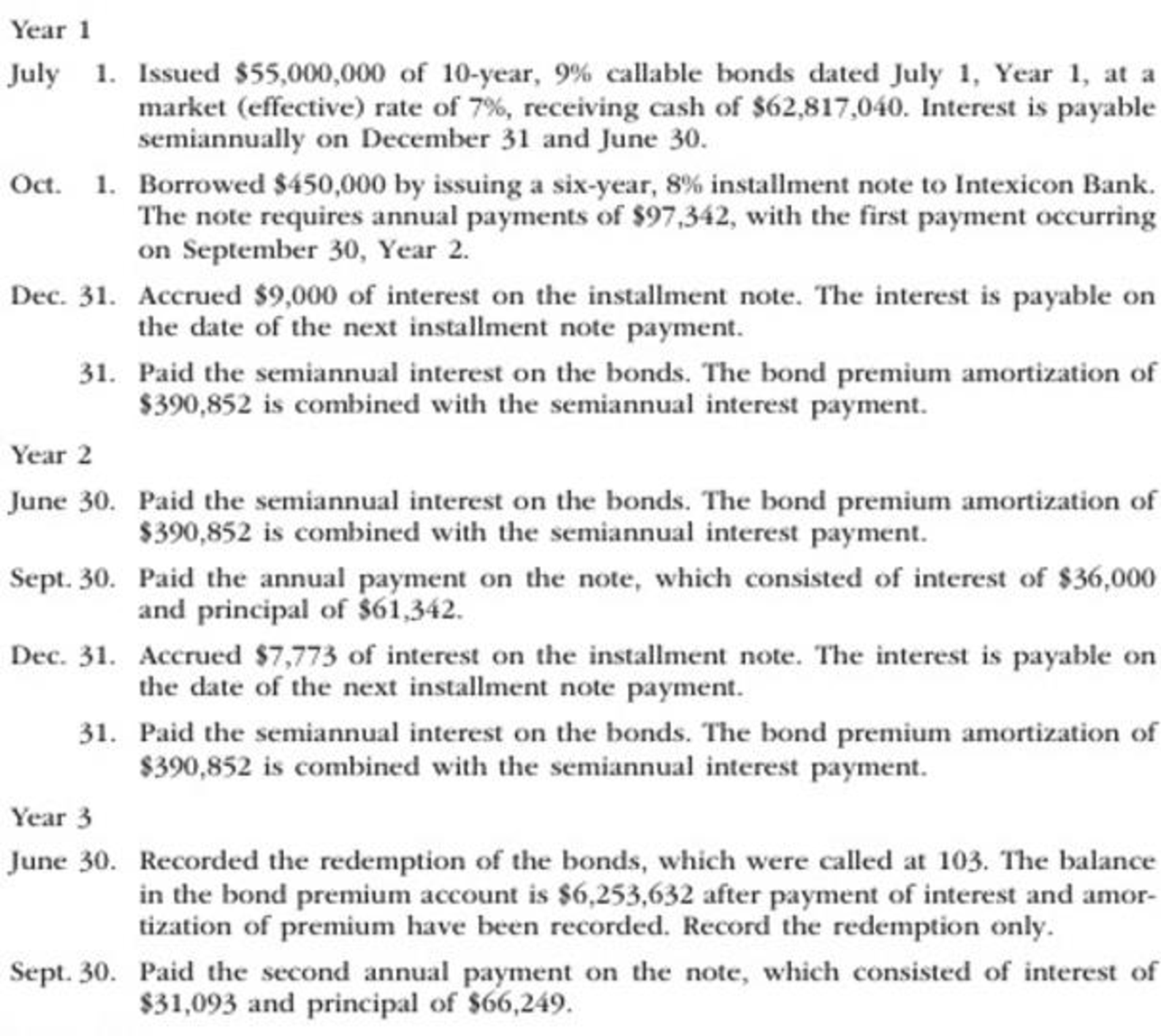 Chapter 14, Problem 4PB, The following transactions were completed by Montague Inc., whose fiscal year is the calendar year: