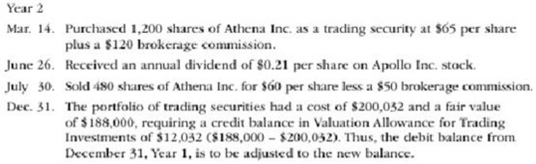Chapter 15, Problem 2PB, Zeus Investments Inc. is a regional investment company that began operations on January 1, Year 1. , example  2